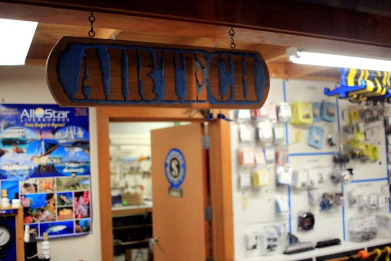 AirTech's storefront in the Gypsy Divers Aquatic Center